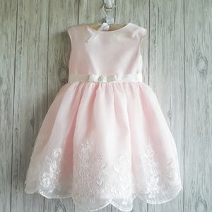 Janie and Jack Embroidered Organza Dress Size 4